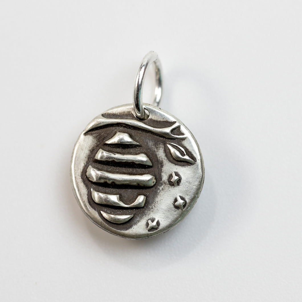 STRENGTH IN NUMBERS Sterling Silver Beehive Charm