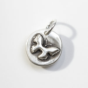 TRUE BEAUTY Sterling SIlver Butterfly Charm