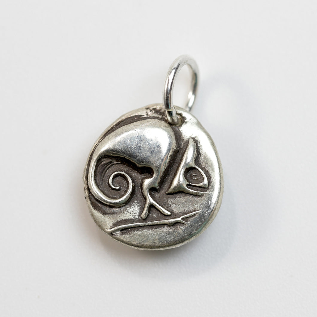ADAPT AND OVERCOME  Sterling SIlver Chameleon Charm