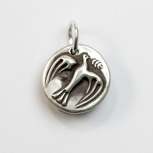 REAL PEACE Sterling Silver Dove Charm
