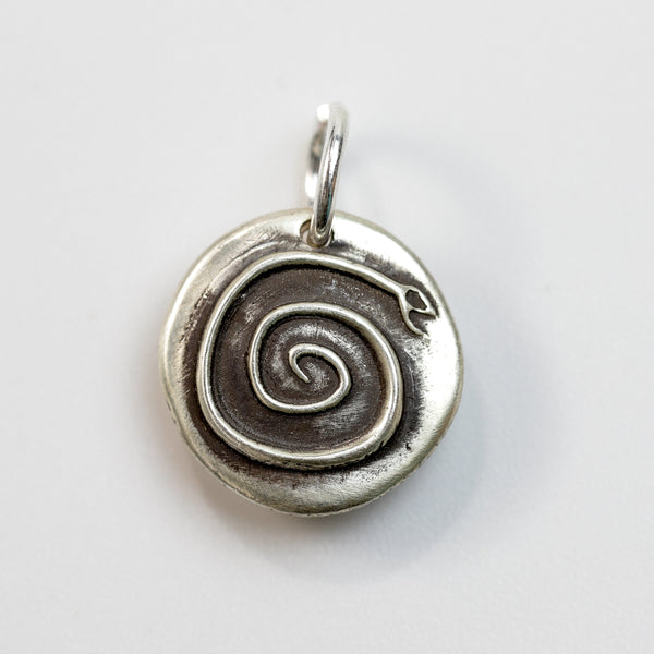 ENERGY COIL Sterling Silver Snake Charm
