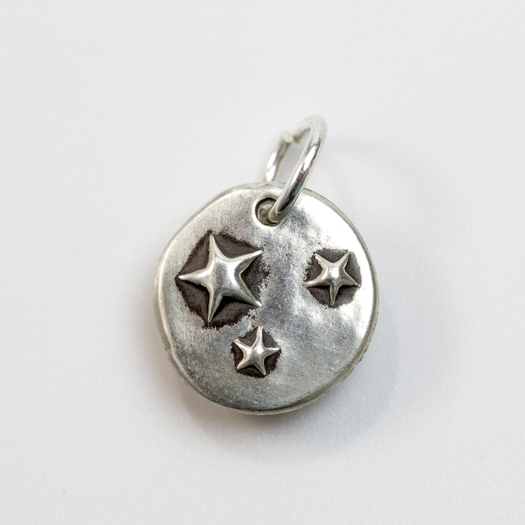 THREE WISHES Sterling Silver Star Charm