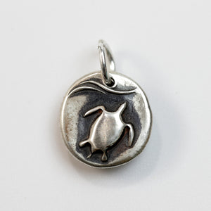 CHANCES Sterling Silver Sea Turtle Charm