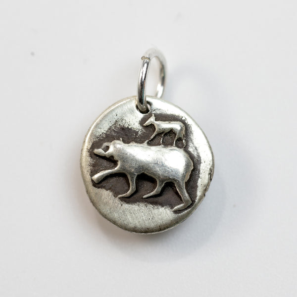 MOTHER'S DAY: MAMA BEAR Sterling Silver Bear Charm