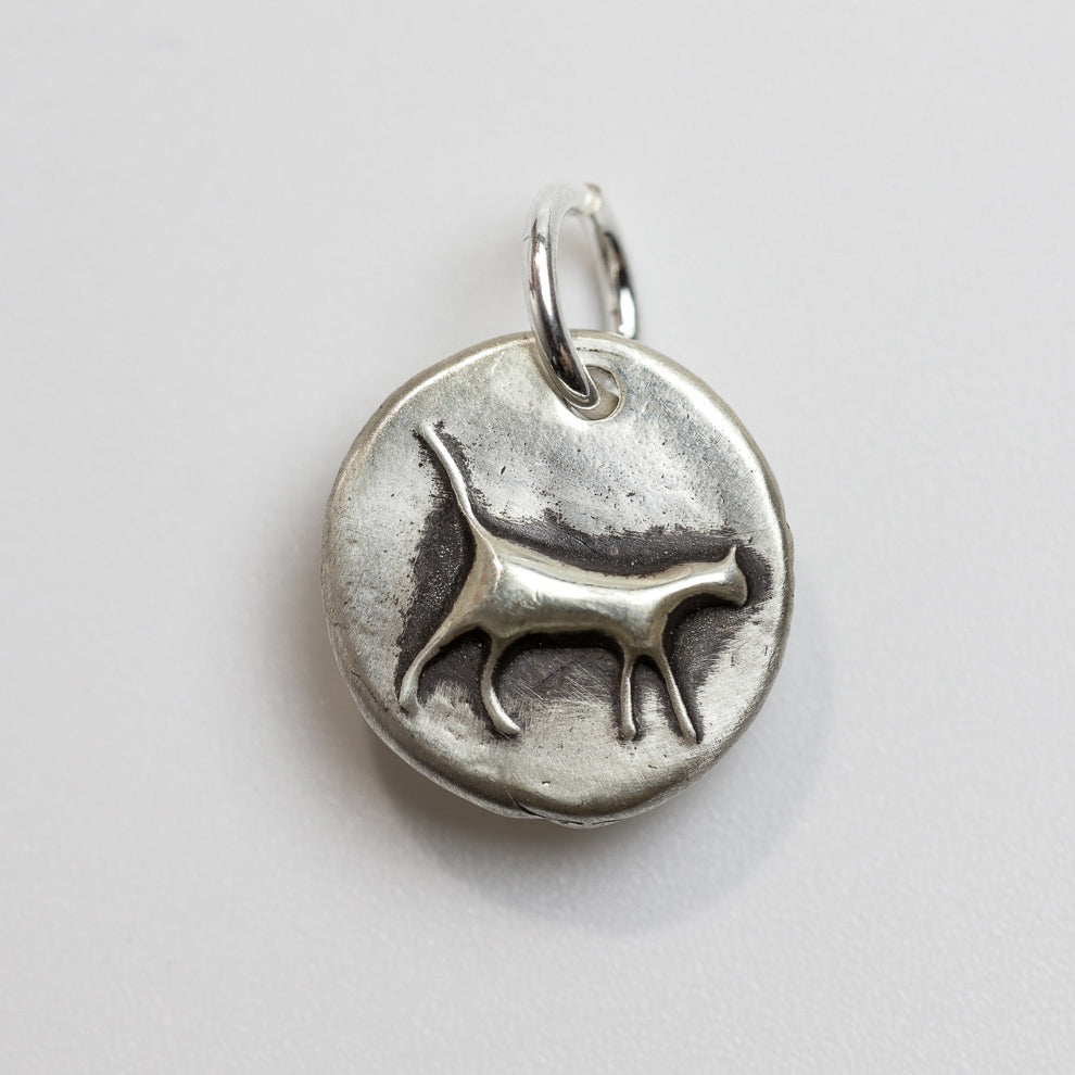 KITTY Sterling Silver Cat Charm