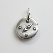 Load image into Gallery viewer, THE WAY Sterling Silver Compass Charm