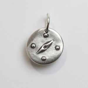 THE WAY Sterling Silver Compass Charm