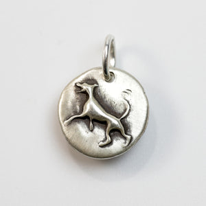 GOOD DOG Sterling SIlver Dog Charm