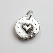 Load image into Gallery viewer, HEART TO HEART Sterling Silver Heart Charm