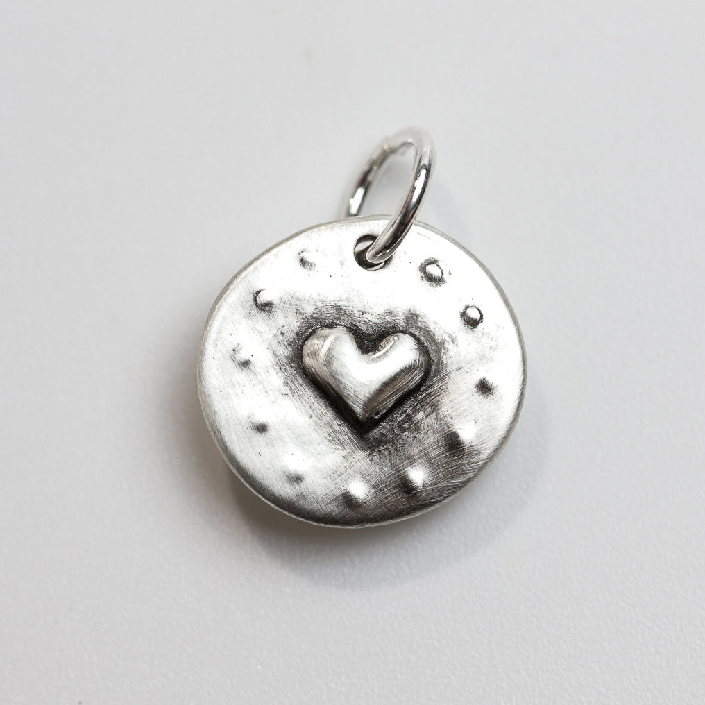 HEART TO HEART Sterling Silver Heart Charm