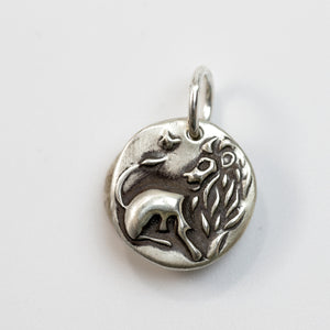 COURAGE Sterling Silver Lion Charm