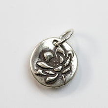 Load image into Gallery viewer, RESILIENCE Sterling Silver Lotus Charm