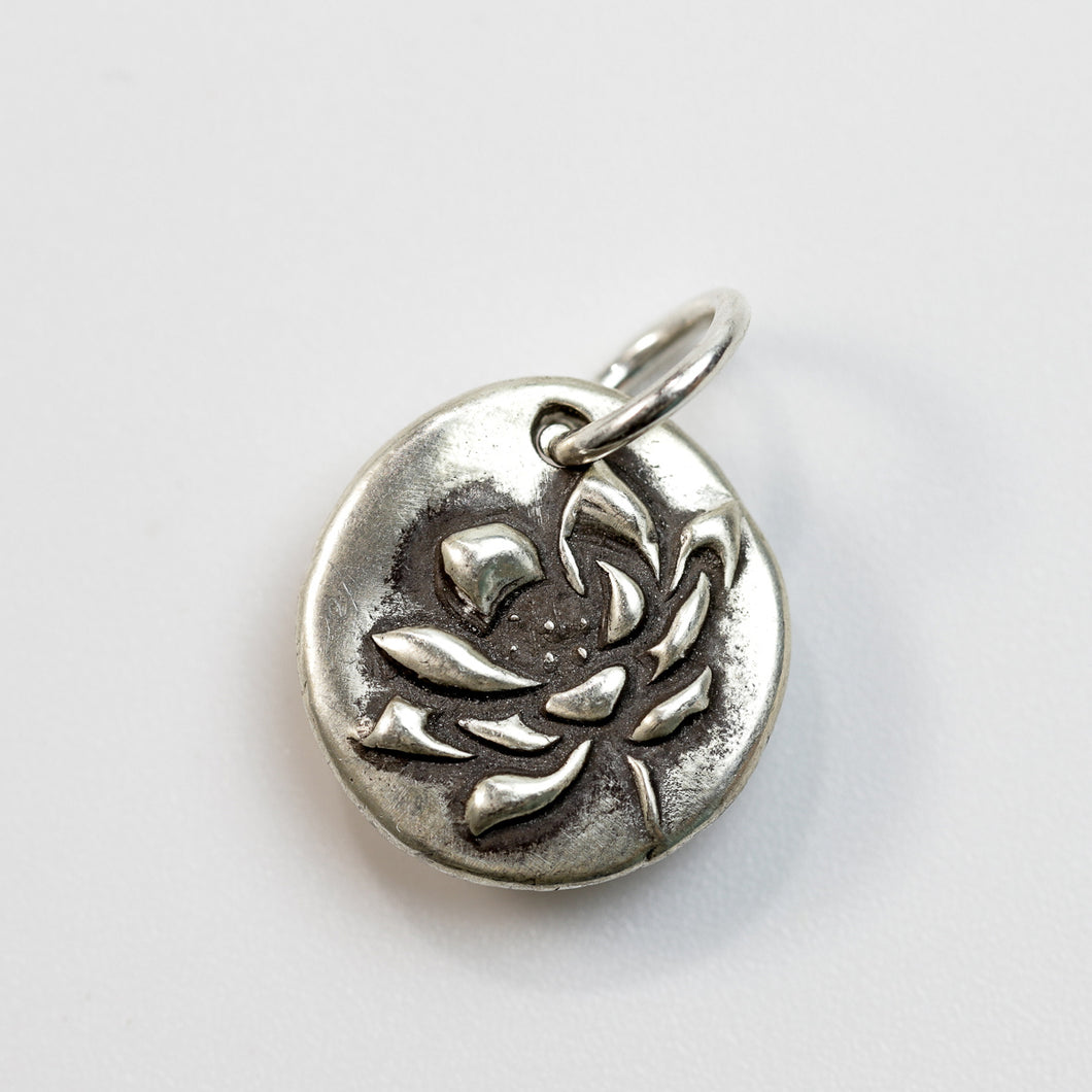 RESILIENCE Sterling Silver Lotus Charm