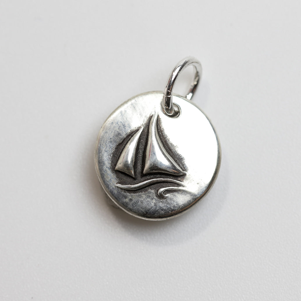 VOYAGER Sterling Silver Sailboat Charm