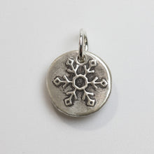 Load image into Gallery viewer, LET IT SNOW Sterling SIlver Snowflake Charm