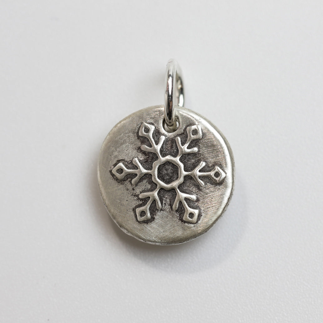 LET IT SNOW Sterling SIlver Snowflake Charm
