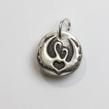 Load image into Gallery viewer, ALWAYS WITH YOU Sterling Silver Two Swans Charm