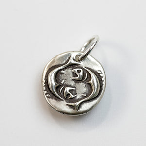 EYES OF BUDDHA Sterling Silver Fishes Charm