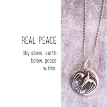 Load image into Gallery viewer, DOVE Sterling Silver, Charm Necklace with Sentiment Card