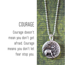 Load image into Gallery viewer, LION Sterling Silver, Charm Necklace with Sentiment Card