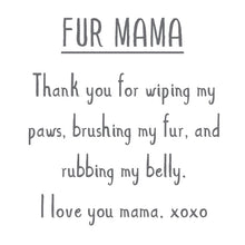 Load image into Gallery viewer, MOTHER'S DAY: FUR MAMA Sterling Silver Paw Print Charm