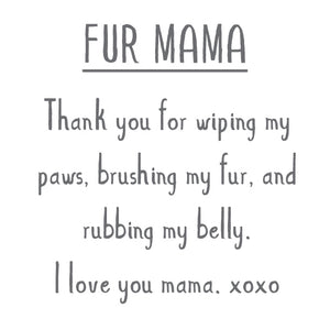 MOTHER'S DAY: FUR MAMA Sterling Silver Paw Print Charm
