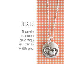 Load image into Gallery viewer, MOUSE Sterling Silver, Charm Necklace with Sentiment Card