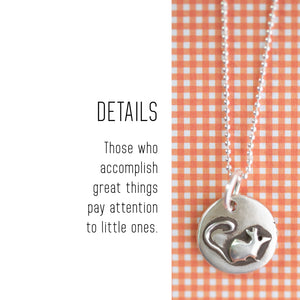MOUSE Sterling Silver, Charm Necklace with Sentiment Card