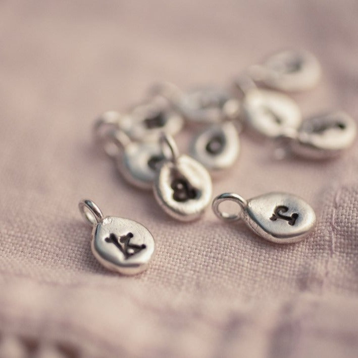 Sterling Silver Artisan Letter Charms