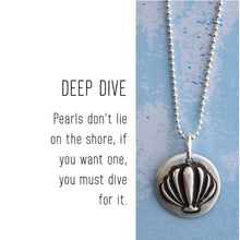 Load image into Gallery viewer, SHELL Sterling Silver, Charm Necklace with Sentiment Card