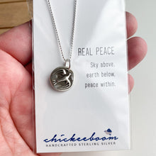 Load image into Gallery viewer, PEACOCK Sterling Silver, Charm Necklace with Sentiment Card