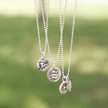 Load image into Gallery viewer, MOUNTAIN Sterling Silver, Charm Necklace with Sentiment Card