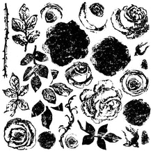 Load image into Gallery viewer, Painterly Roses 12x12 Decor Stamp