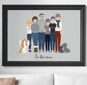 Personalized Family Portraits -Printed