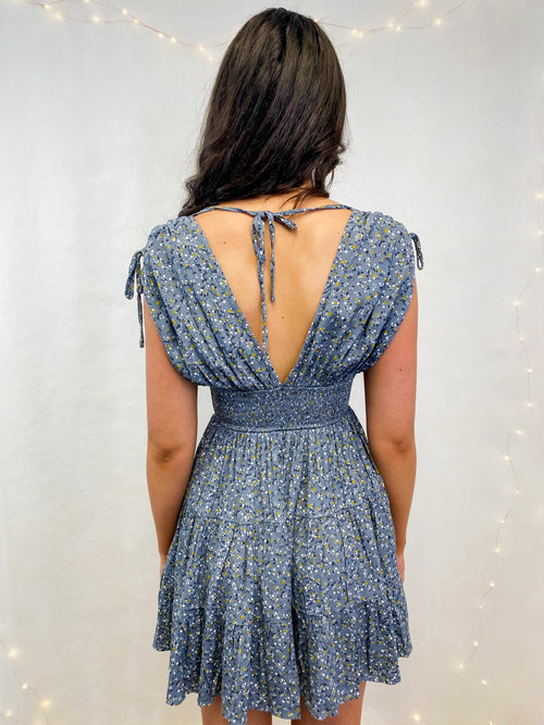 Sierra Dress in Dusty Blue