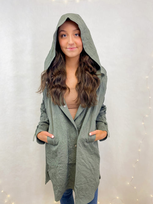 BB Dakota Going Somewhere Waterproof Coat in Surplus Green