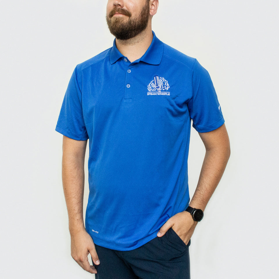 Blue Dri-Fit Golf Shirt