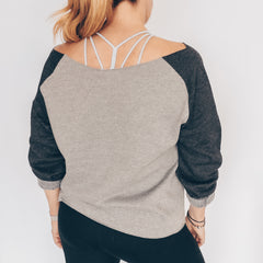 """Barbells At Sunset"" Off The Shoulder Sweatshirt"