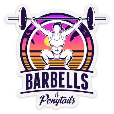 Barbells & Ponytails | Summer VIbes Decal
