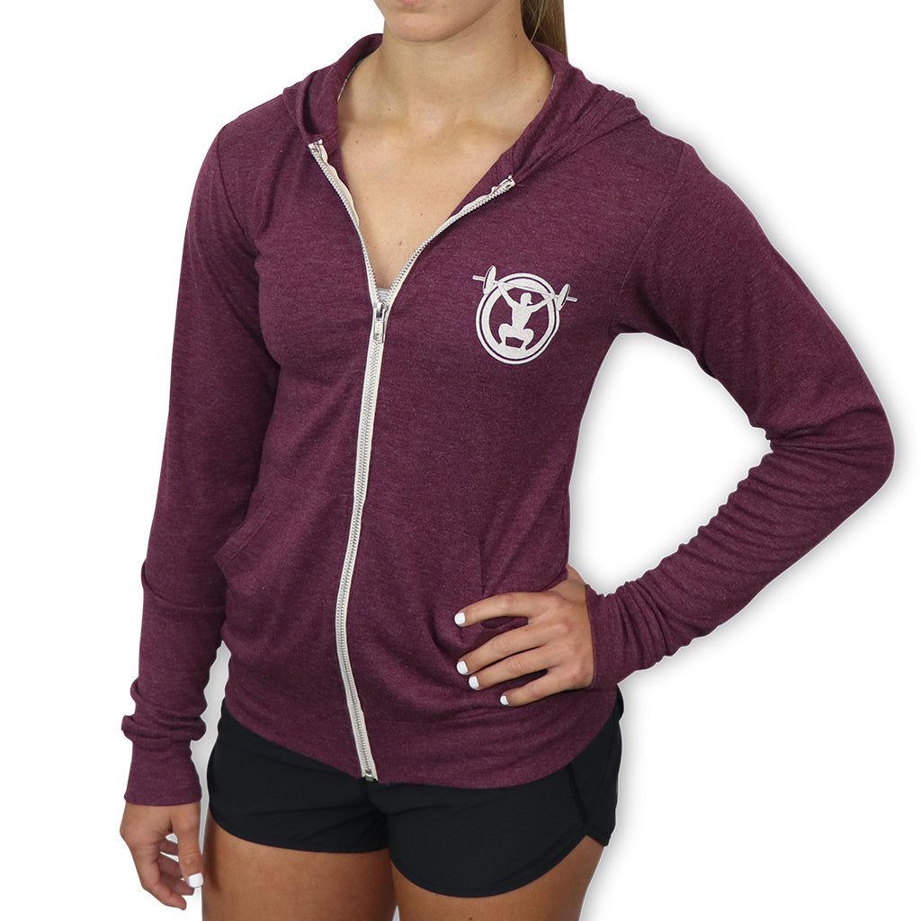Low Squats Lightweight Zip-Up Hoodie