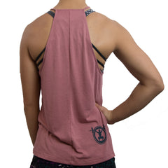 Barbells and Ponytails high neck flowy gym shirt