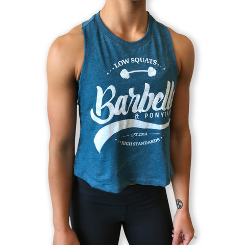 NEW! Low Squats Cross Back T