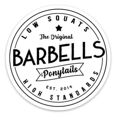 Barbells & PonytailsⓇ| Retro Decal