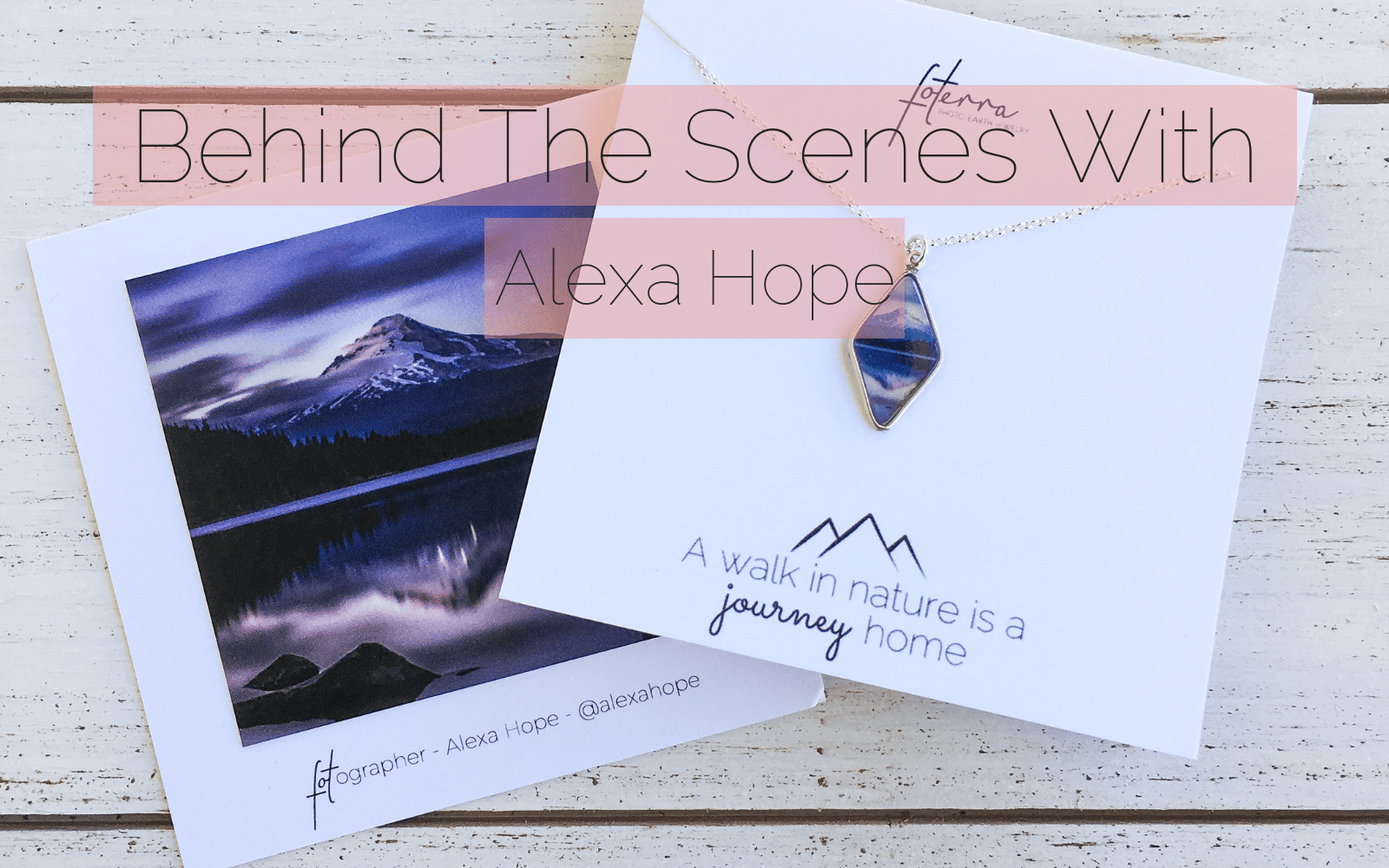 Photography Inspirations: Behind the Scenes at Foterra Jewelry with Fotograph/r Alexa Hope