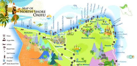 North Shore Oahu Map