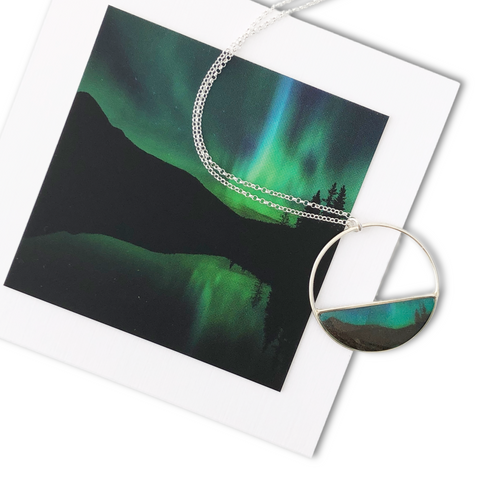 Northern Lights Necklace by Foterra Jewelry