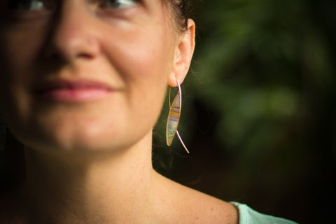 Foterra Jewelry Oh to Be Where The Sky Meets the Sea Earrings