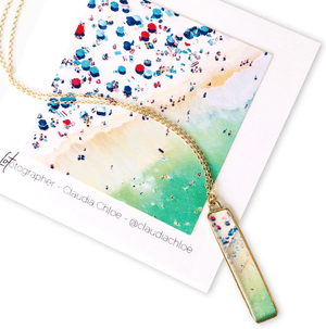Go Ahead. Make Waves! Jersey Shore Vertical Bar Necklace