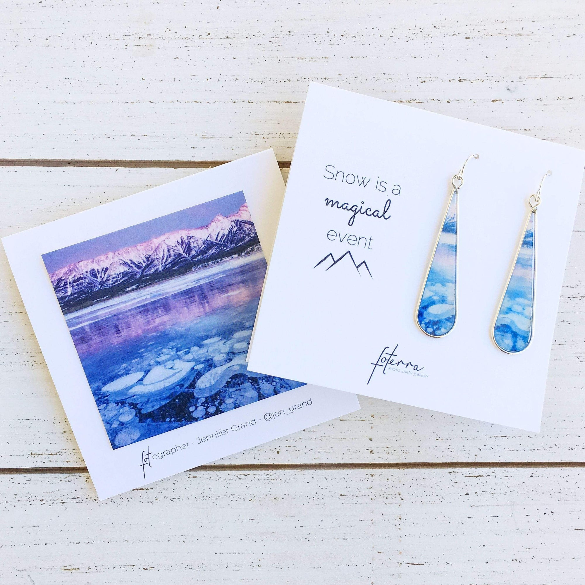 Snow is a Magical Event Medium earrings - Sale