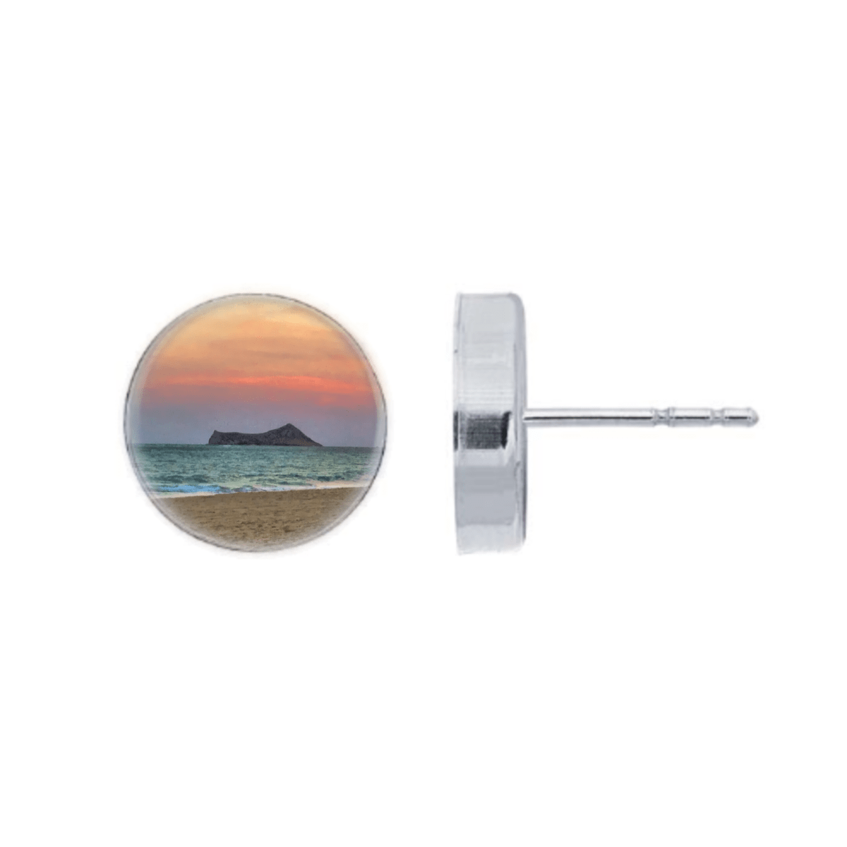 Sunset Island Post Earrings by Foterra Jewelry